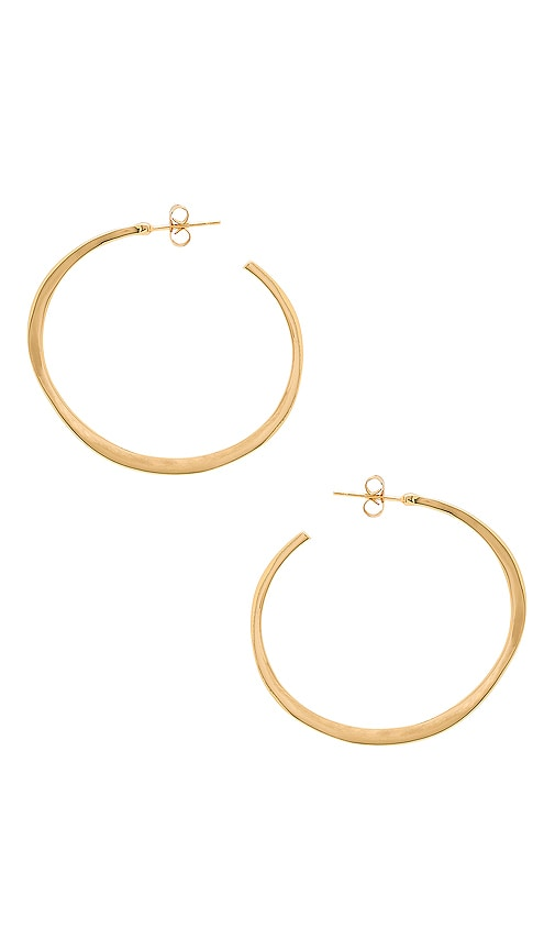 Taner Extra Large Hoop Earrings, Gold
