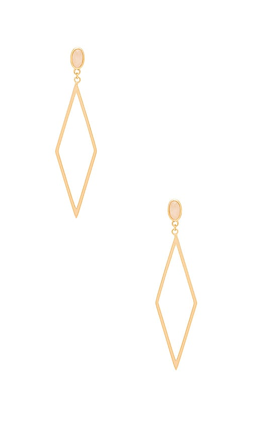 gorjana Dez Drop Hoop Earrings in Metallic Gold