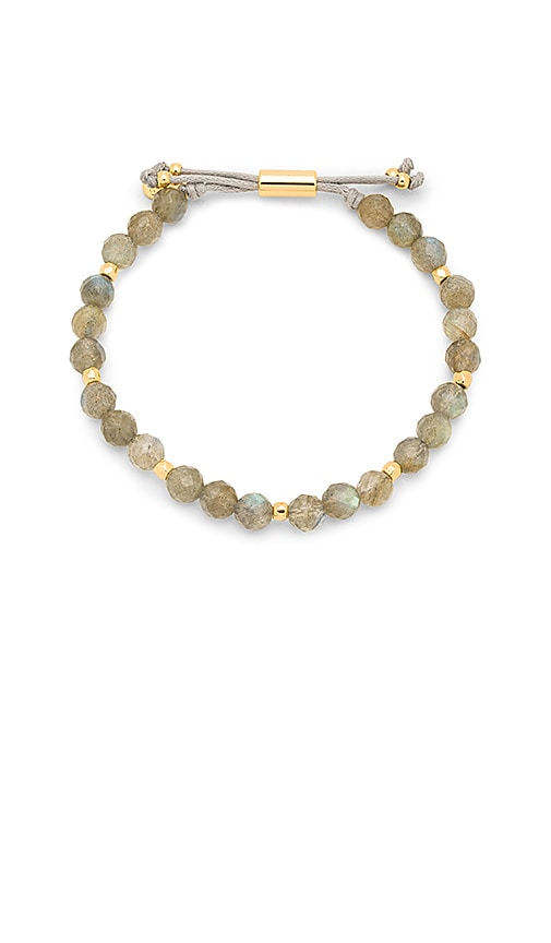 gorjana Power Gemstone Beaded Bracelet in Gray