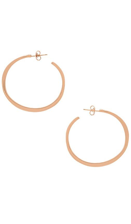 gorjana Arc Hoop Large Earrings in Metallic Copper