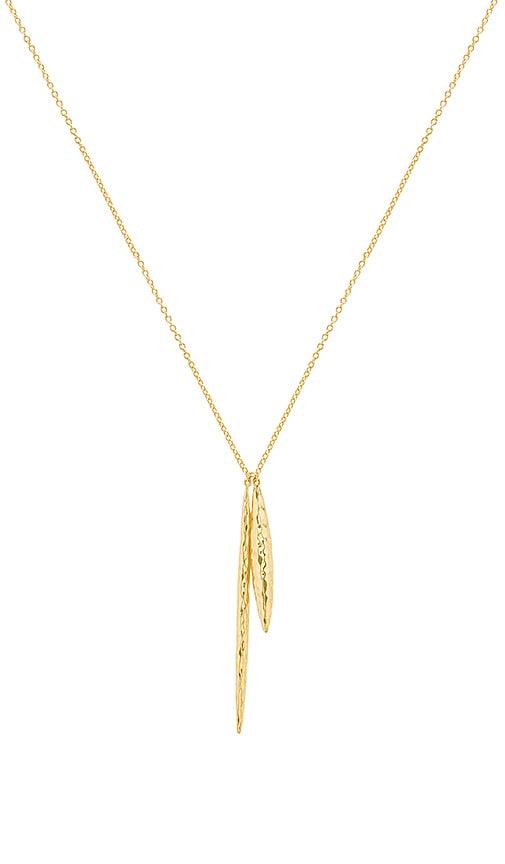 gorjana Nora Pendant Necklace in Metallic Gold
