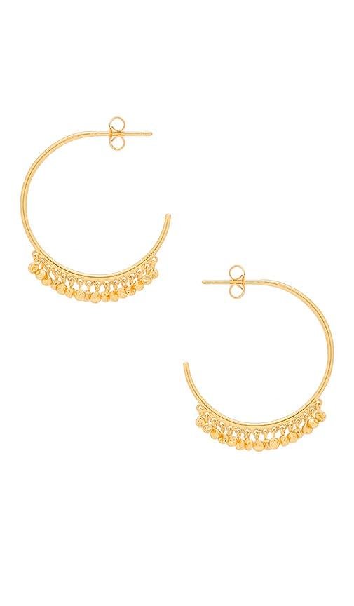 gorjana Chloe Mini Hoop Earrings in Metallic Gold