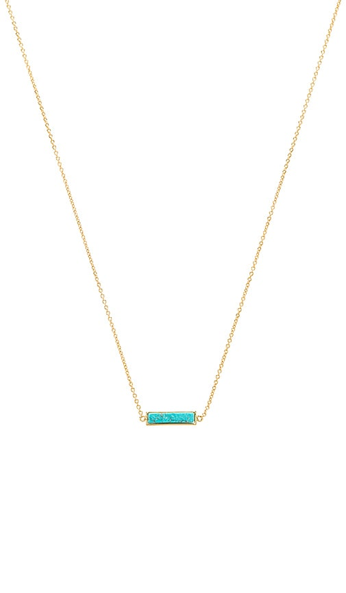 gorjana Dez Bar Necklace in Metallic Gold