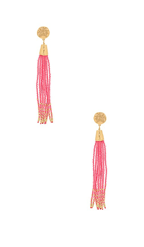 gorjana Salina Beaded Tassel Earrings in Metallic Gold