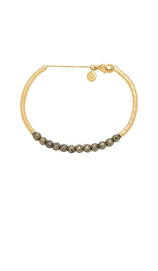 gorjana Power Gemstone Cuff Bracelet in Metallic Gold