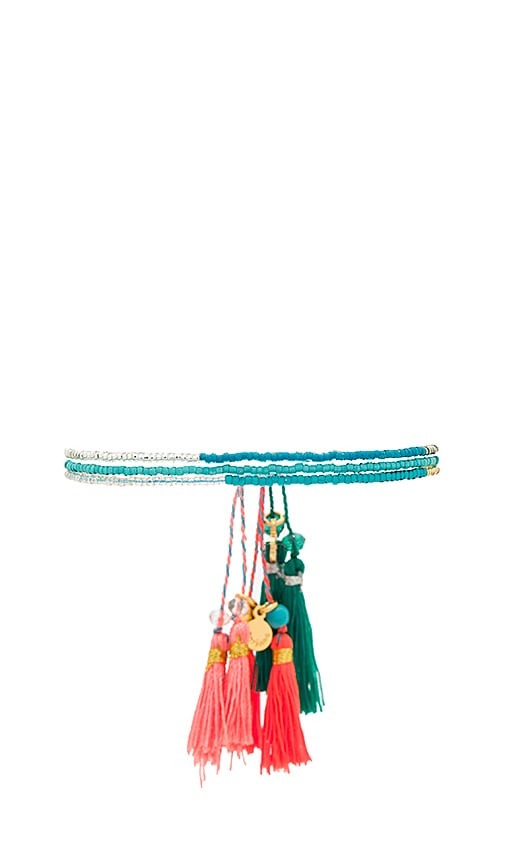 gorjana Playa Beaded Bracelet Set in Teal