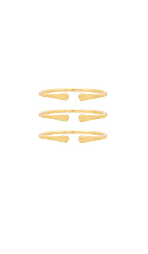 gorjana Kona Ring Set in Metallic Gold
