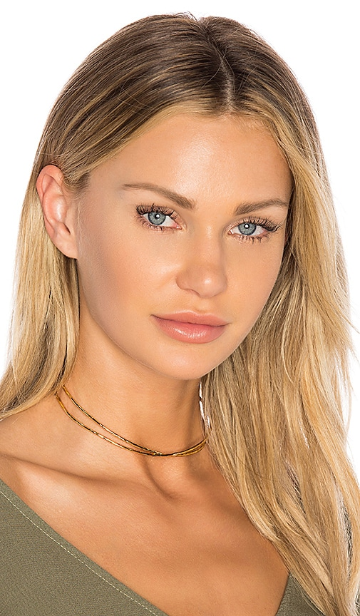 gorjana Elea Collar Necklace in Metallic Gold