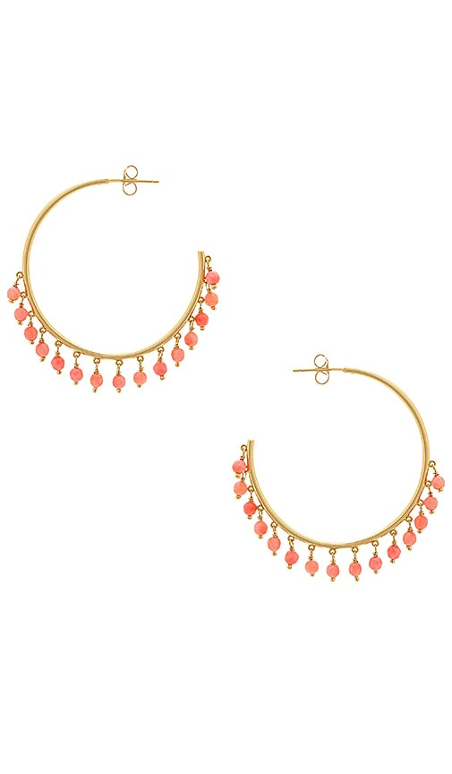 gorjana Sol Gemstone Hoop Earrings in Metallic Gold