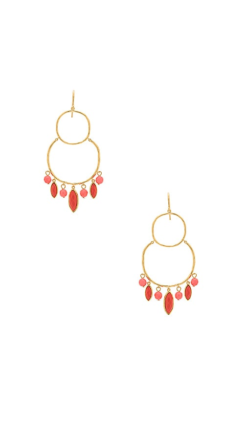 gorjana Eliza Tiered Chandelier Earrings in Metallic Gold