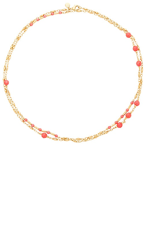gorjana Sol Gemstone Wrap Necklace in Metallic Gold