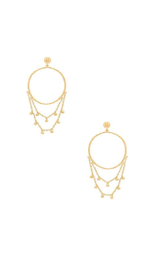 Gorjana Sol Drape Hoop Earrings in Metallic Gold vnWtCF1