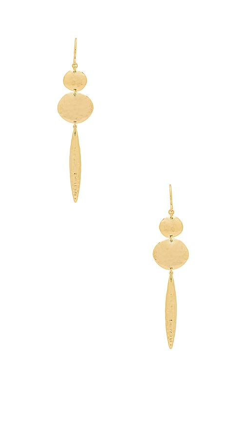 gorjana Gypset Drop Earrings in Metallic Gold