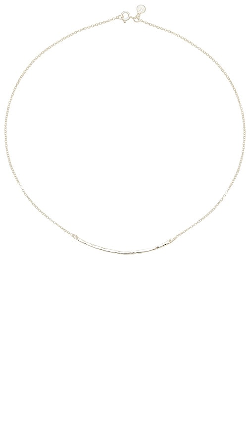 gorjana Taner Bar Necklace in Metallic Silver