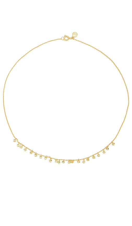 gorjana Chloe Mini Necklace in Metallic Gold