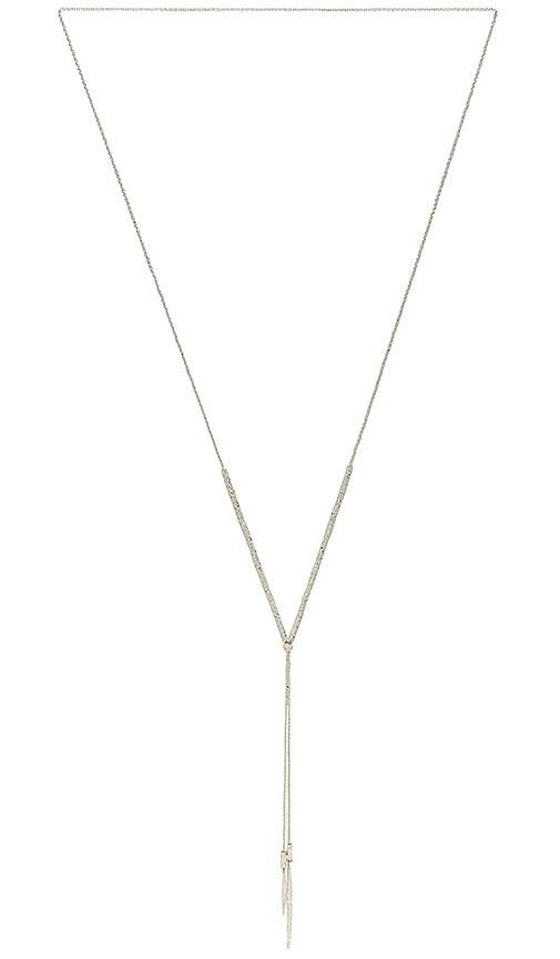 gorjana Laguna Adjustable Necklace in Metallic Silver
