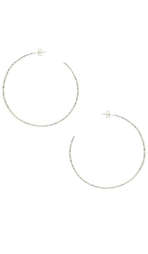 gorjana Taner XL Hoop in Metallic Silver