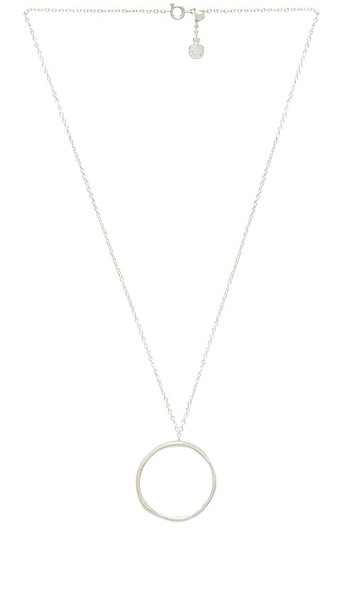 gorjana Quinn Short Adjustable Necklace in Metallic Silver