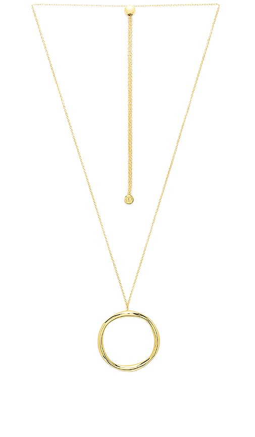 gorjana Quinn Long Adjustable Necklace in Metallic Gold