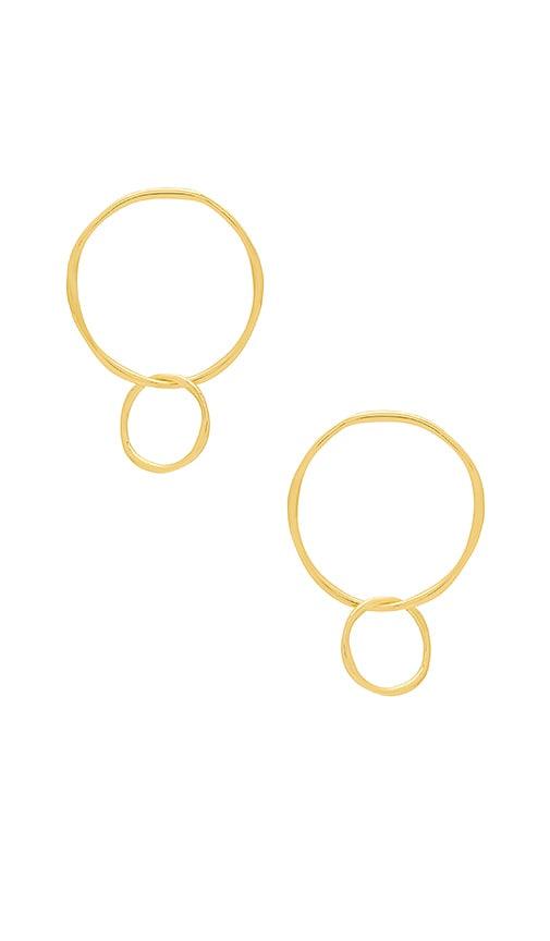 gorjana Quinn Linked Earrings in Metallic Gold