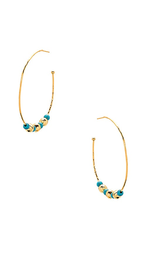 gorjana Gypset Hoops in Metallic Gold