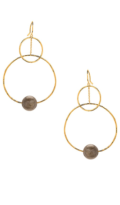 gorjana Interlocking Drop Earrings in Metallic Gold