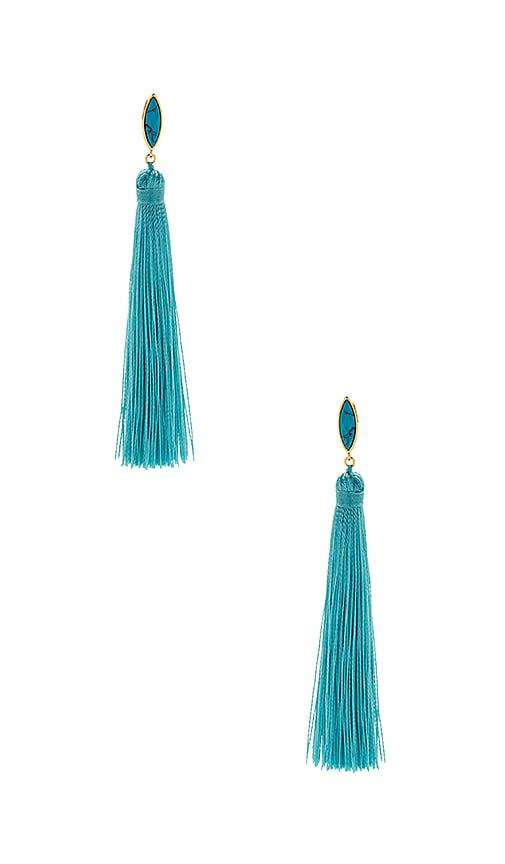 gorjana Palisades Tassel Earrings in Metallic Gold