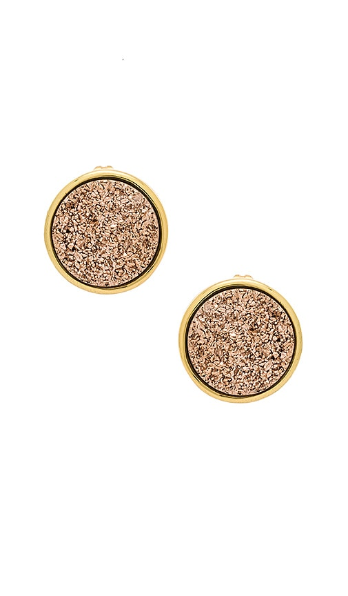 gorjana Astoria Large Studs in Metallic Gold