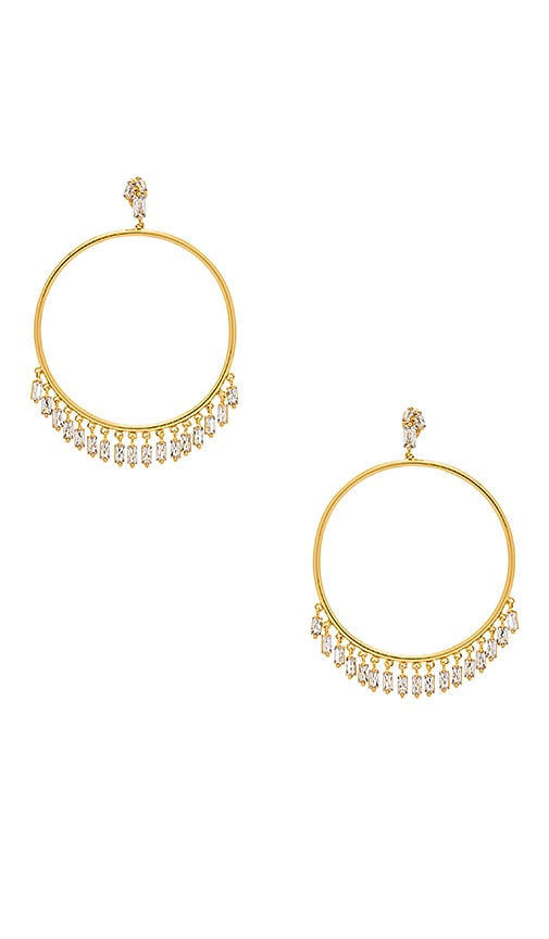 gorjana Amara Drop Hoops in Metallic Gold