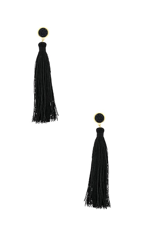gorjana Astoria Tassel Earrings in Metallic Gold
