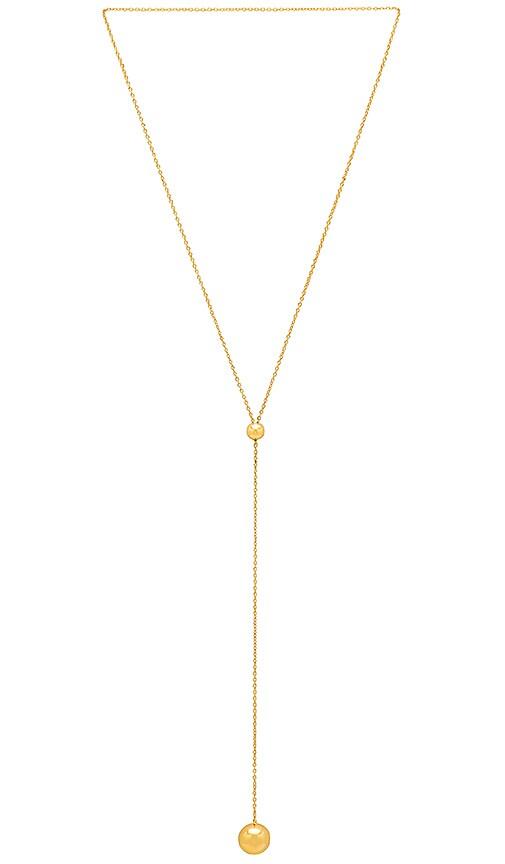 gorjana Newport Adjustable Lariat Necklace in Metallic Gold
