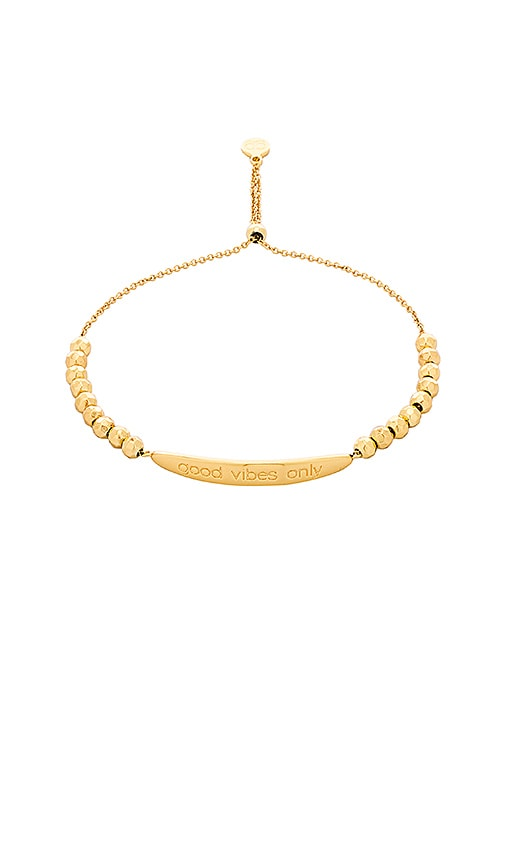 gorjana Good Vibes Only Bracelet in Metallic Gold