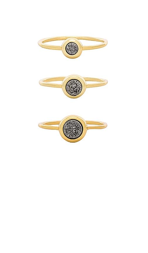 gorjana Astoria Ring Set in Metallic Gold