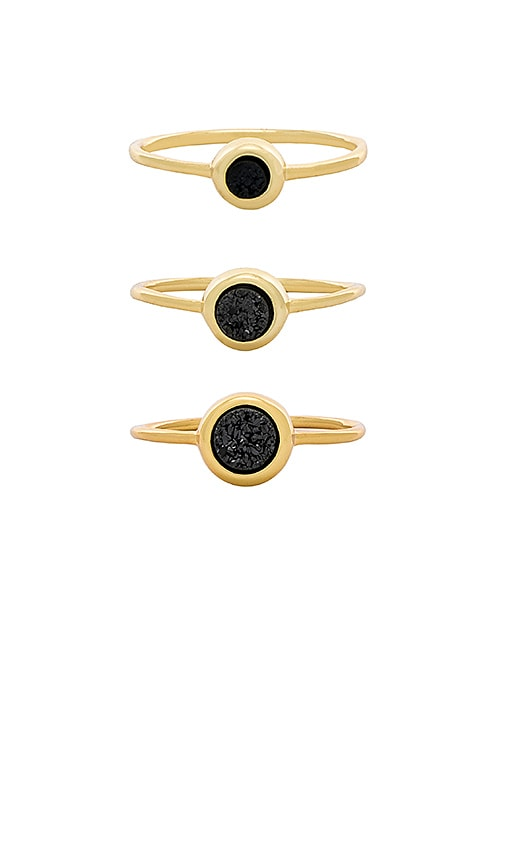 gorjana Astoria Ring Set in Metallic Gold