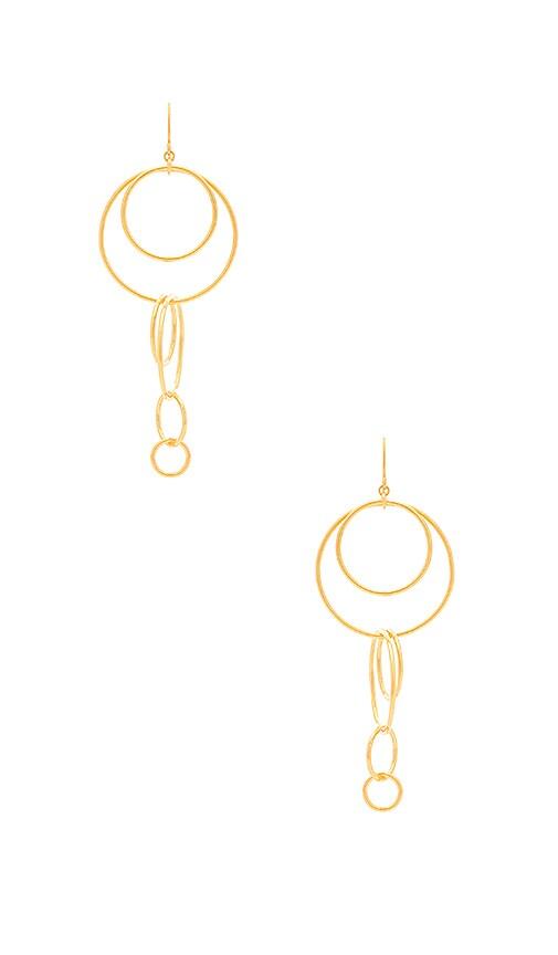 gorjana Wilshire Drop Earrings in Metallic Gold