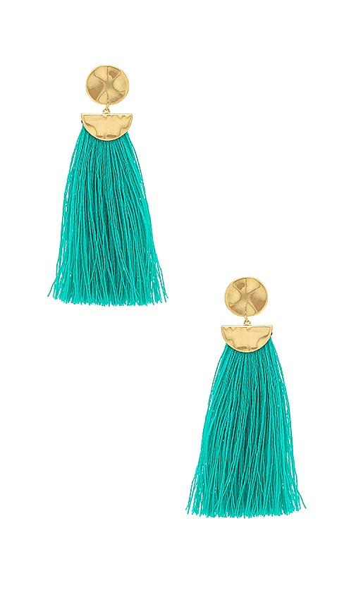 Gorjana Havana Circle Drop Earrings, Emerald