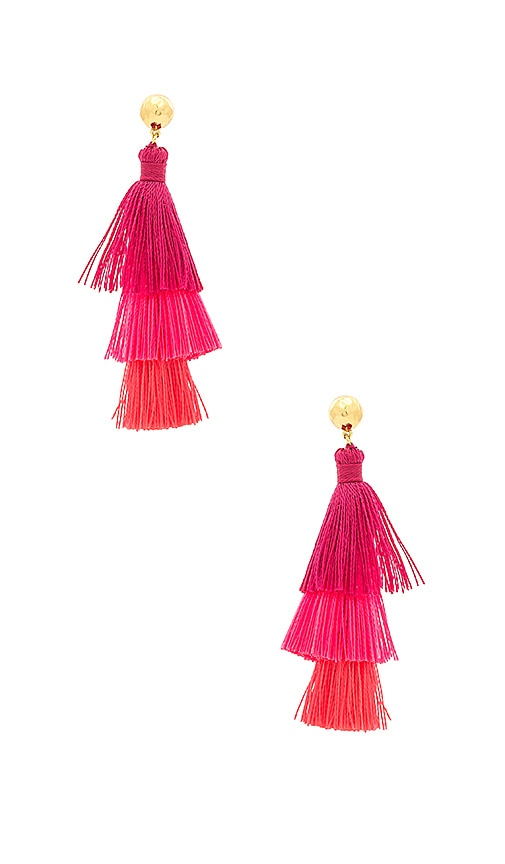 gorjana Havana Tassel Earrings in Pink