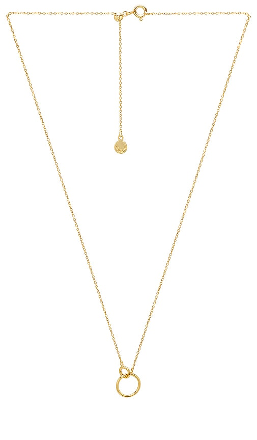gorjana Wilshire Charm Necklace in Metallic Gold