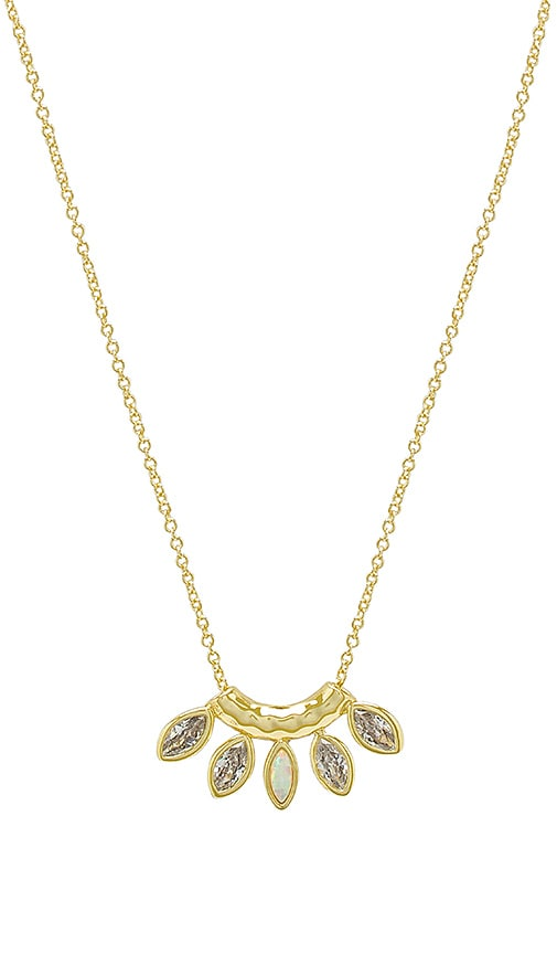 gorjana Rumi Burst Adjustable Necklace in Metallic Gold