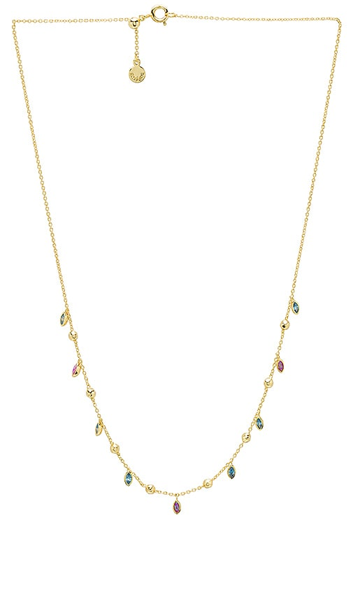gorjana Rumi Confetti Adjustable Necklace in Metallic Gold
