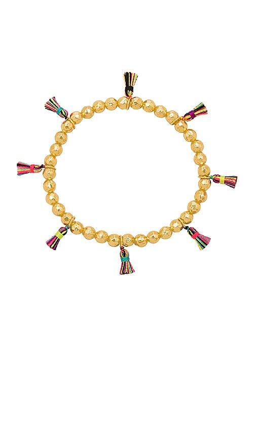 gorjana Havana Tassel Bracelet in Metallic Gold