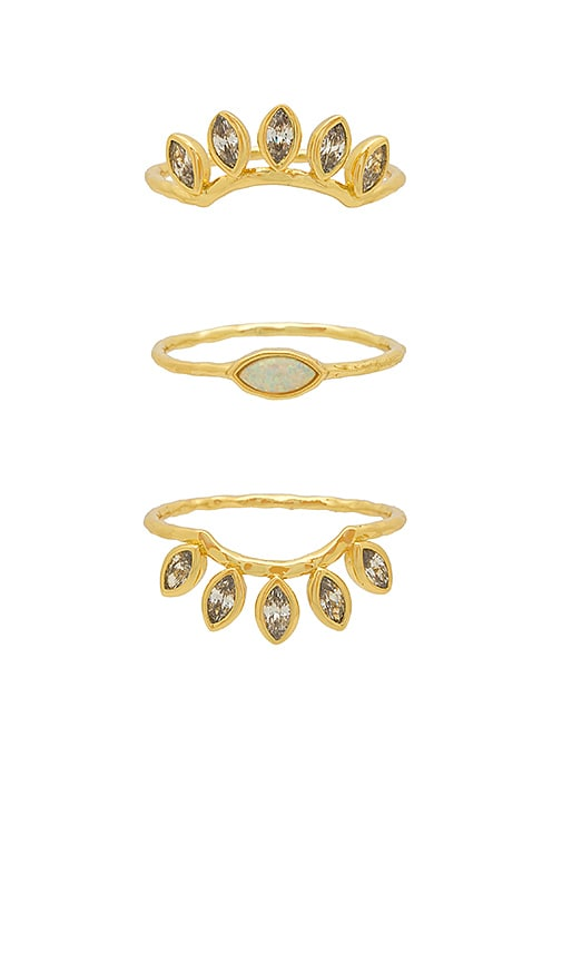 Rumi Burst Ring Set