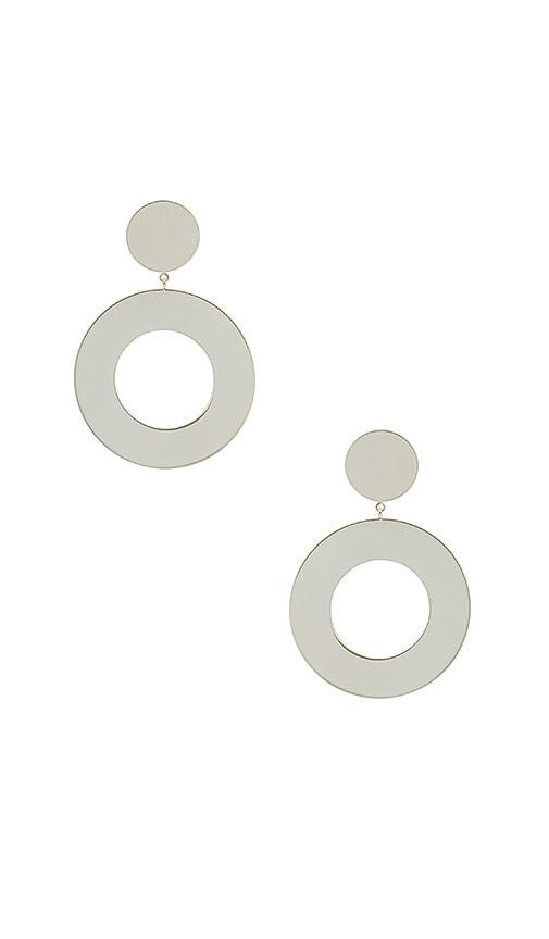 gorjana Jagger Cutout Drop Earrings in Metallic Silver