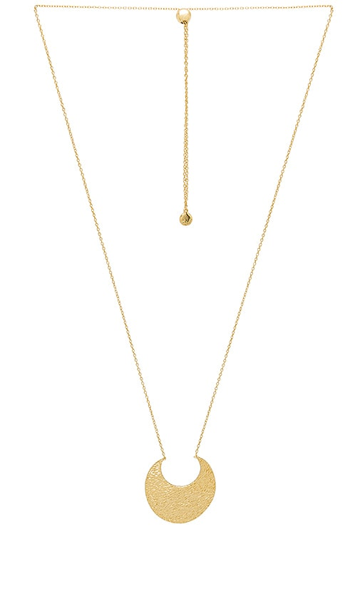 gorjana Rae Pendant Adjustable Necklace in Metallic Gold