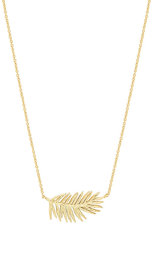 gorjana Palm Adjustable Necklace in Metallic Gold