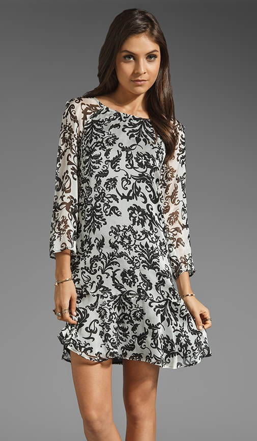 Wallpaper Print Long Sleeve Dress
