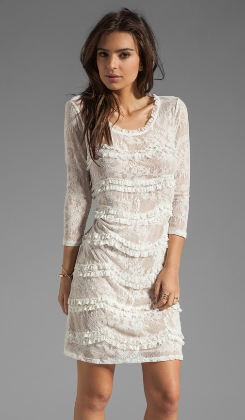 Paisley Lace Elbow Sleeve Dress