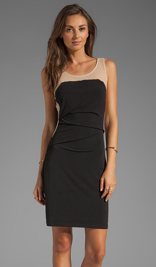 Stretch Jersey Mesh Strapless Dress
