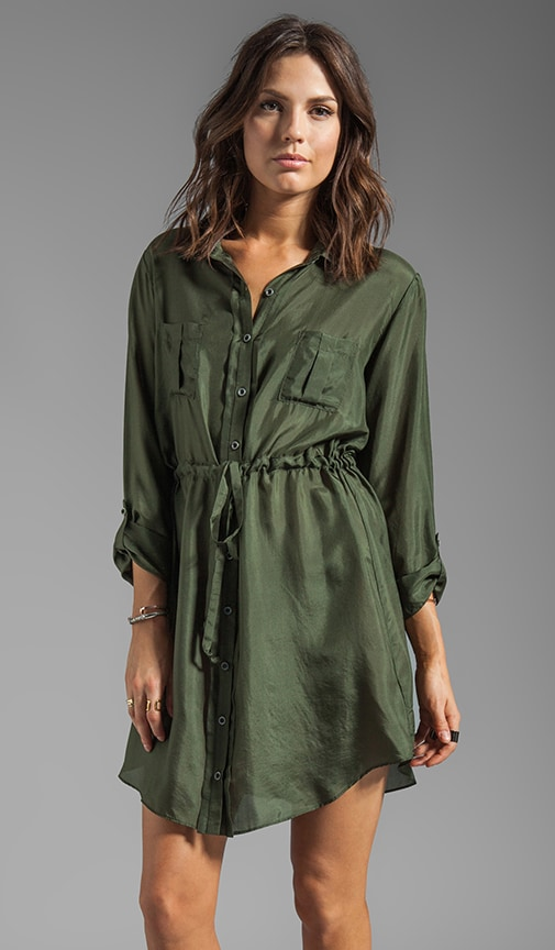 Washed Silk Shirt Dress