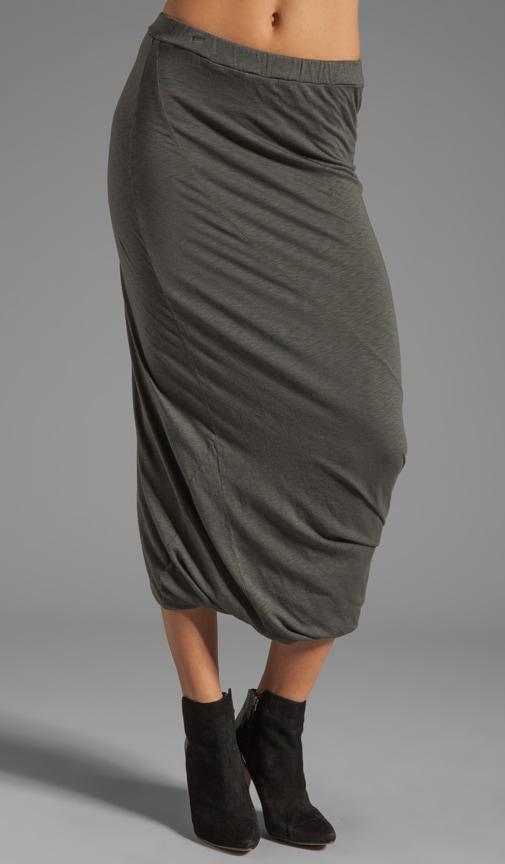 Modal Slub Drape Skirt